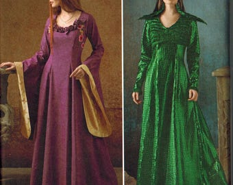 Simplicity 1137 Game of Thrones Inspired Dress Sewing Pattern UNCUT Sizes 6-8-10-12-14 Gown Sansa Stark Black Purple Wedding