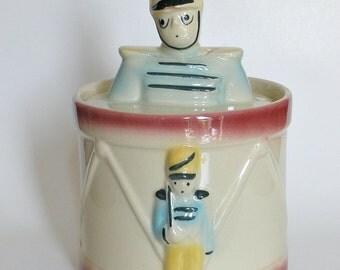 Shawnee Drum Major Cookie Jar_1940_Drummer Boy Cookie Jar