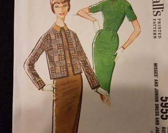 McCalls/Pattern/5955/Misses/Juniors/Dress/Jacket