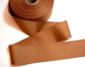 Light Brown Ribbon, Caramel Grosgrain Ribbon 2 1/4 inches wide x 10 yards