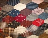 Vintage Quilt Piece | Old Quilt Piece | Antique Quilt Piece | Cutter Quilt Piece | 19 x 22