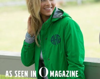 "Charles River Logan Jacket, As featured in ""O"" Magazine, Personalized with your Monogram, Preppy, Sorority, Mother's Day, Teacher's Gift"
