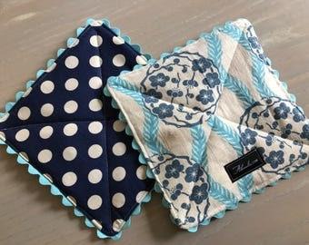 Amy Butler Alchemy Kimono + Dot Pot Holder, Set of 2