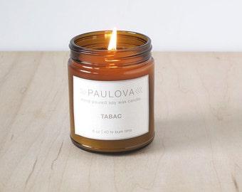 soy wax candle : 8oz glass jar