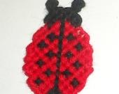 Blow Out Sale Ladybug Magnet - Plastic Canvas Lady Bug - Ladybug Magnet - Red Ladybug - Small Magnet - Refrigerator Magnet - Fridgie Magnet