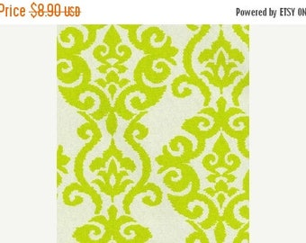 "ON SALE NOW Sample Sale Runner 47"" Table runner Damask Table Runner Waverly Luminary Chartreuse Lime on Natural"