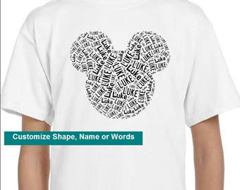 Personalized Mickey Mouse Ears T Shirt,  T-Shirt,  Disney Family Vacation
