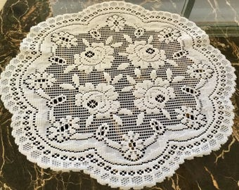 White Lace,Doilie 19 Inches in Diameter