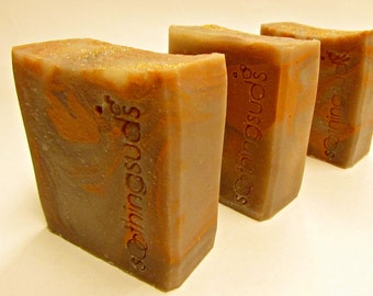 Ginger Cookie - Handmade Rice Bran Oil & Mango Butter SILK Soap, Hot Processed Artisan Soap, Soothing Suds Soap