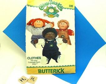 Uncut Cabbage Patch Kids Clothes Butterick Pattern 330