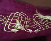 Reserved Listing For DevientDrow for one Custom Created Norse Handfasting Cloth