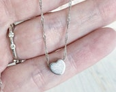 Tiny Heart Silver Charm Necklace