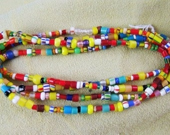 Strand of African Trade Beads - aka Christmas Beads or Christmas Trade Beads (some vintage)