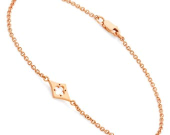 Isolde Bracelet solid Gold adjustable length
