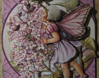 ACEO Original 3-D Lilac Flower Fairy