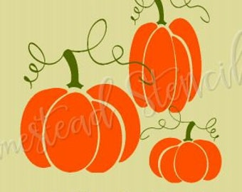 PRIMITIVE STENCIL - 7161 J - Heirloon Seeds Pumpkin  - Clear 5Mil Mylar