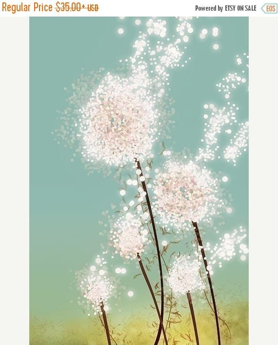 Mothers Day Sale Dandelion Art Print - Perennial Moment - 12x18