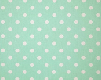 Mint Green and White Dot Drapery Panels - Pair/ 2 Panels - Premier Prints Polka Dot Twill Mint Fabric