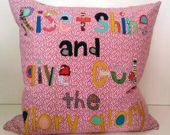 Rise and Shine applique pillows