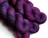 Sock Yarn Glimmer Superwash Merino and Nylon Fingering Yarn - Sparkling Orchid, 430 yards