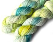 Handdyed Yarn Euro Sock Yarn SW Merino, Peeps, 435 yards