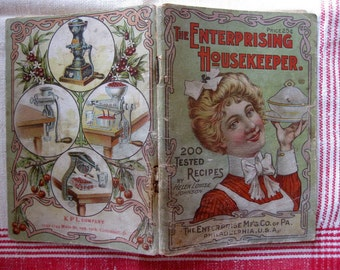 Gorgeous Vintage The Enterprising Housekeeper 200 Tested Recipes, Packed with Kitchen Tools Advertising
