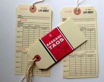 HOLIDAY SALE - Vintage Dennison Tags and Layaway Tags