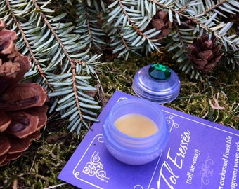 Botanical Solid Perfume Sample ~  Choose ONE, Pure Plant Fragrance for Nature Lovers in a mini violet jar with bohemian jewel