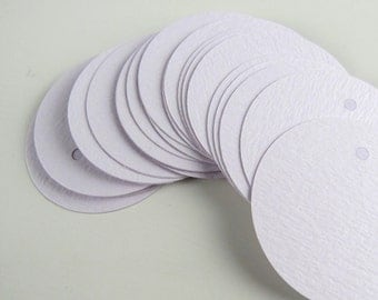25 Round Pale Lilac Purple Tags