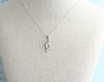 Leaf Rhinestone Bridal Necklace