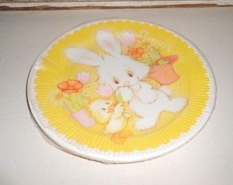 Vintage Bunny Paper Plates