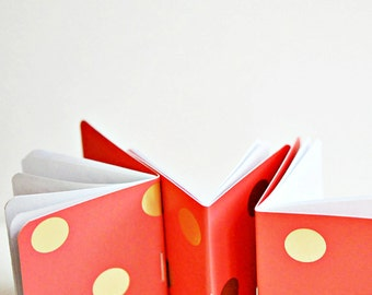 Pink Gold Dot Books {3} Blank Books | Mini Journals | Gift under 10 | Gift for New Mom | Mothers Day | Best Friend Gift