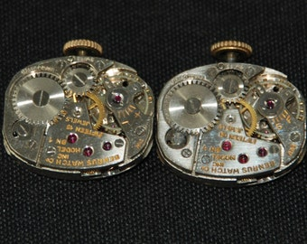 Vintage Watch Movements Parts Steampunk Altered Art Assemblage R 37