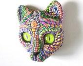 Cosmic Cat Wall Sculpture