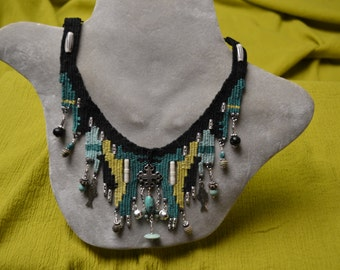 Turquoise Woven Necklace 823