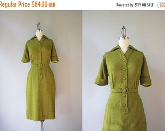 STOREWIDE SALE 1950s Dress / Vintage 50s Knit Wiggle Dress / 1960s Fitted Knit Helix Dress