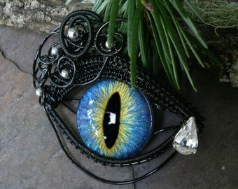 Gothic Steampunk Black Eye with Teardrop