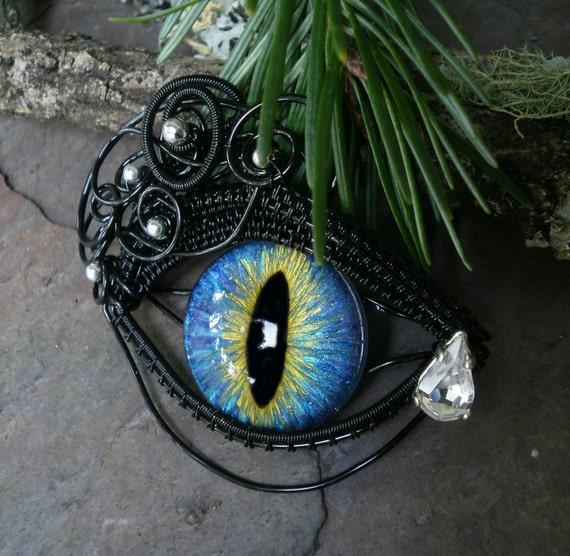 Gothic Steampunk Black Eye with Teardrop