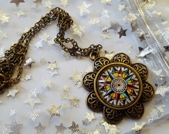Steampunk Inspired Compass Necklace