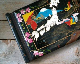 Vintage Photo Album, Vintage Scrap Book, Vintage Lacquered Photo Album, Japanese Photo Album, Scrap Book, Photo Album