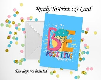 Be Positive Card and Envelope Set