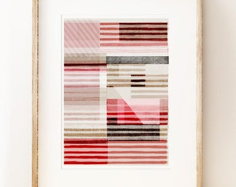 Lined - abstract art print