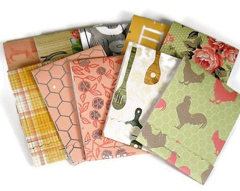 Set of 20 Matchbook Notepads Mini Note Pads in Country Kitchen