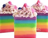 Soap-Fruity Patootie Artisan Vegan Soap/Handmade/Cold Process Soap/Summer/Rainbow
