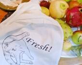 Fresh Cat flour sack kitchen towel (digitally printed)