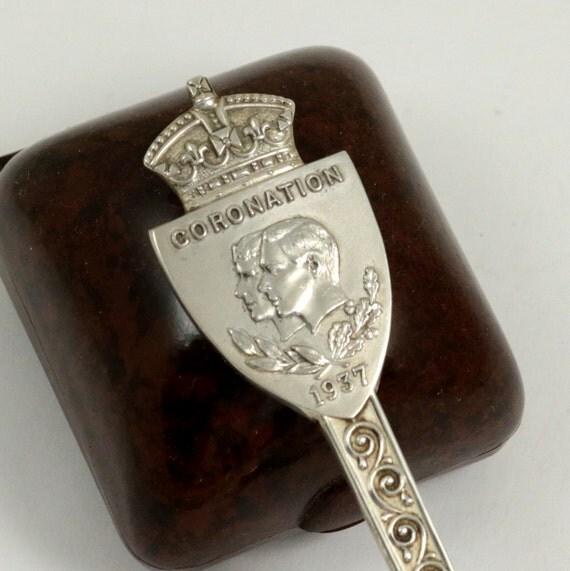 Vintage 1937 King George VI Coronation Silver Plated EPNS Spoon