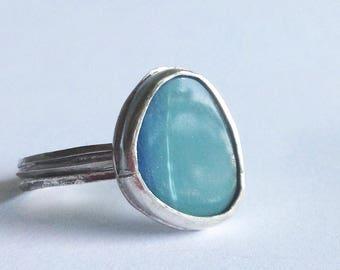 Boulder Opal Bird's Nest Ring - Size 9