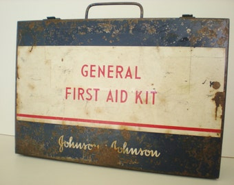 First Aid Kit-1950 Emergency Supplies-General First Aid Kit- Johnson & Johnson Emergency Kit