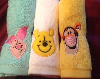 Winnie the Pooh wash cloths