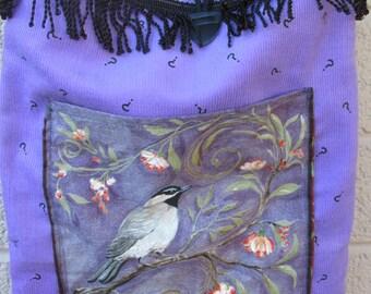 hippie purse handmade corduroy fabric bag